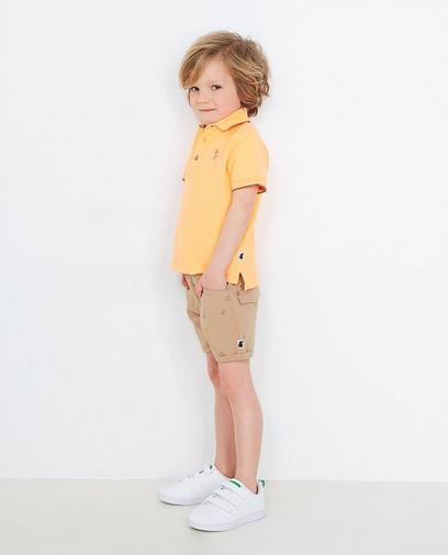 Beige Shorts mit Print